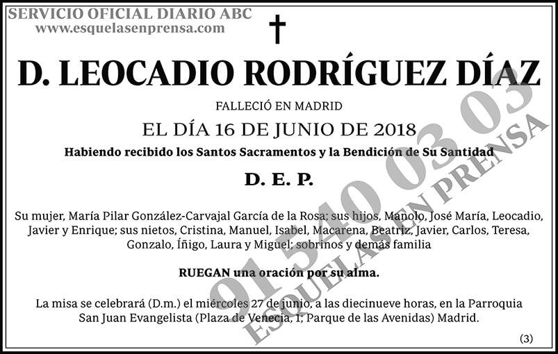 Leocadio Rodríguez Díaz